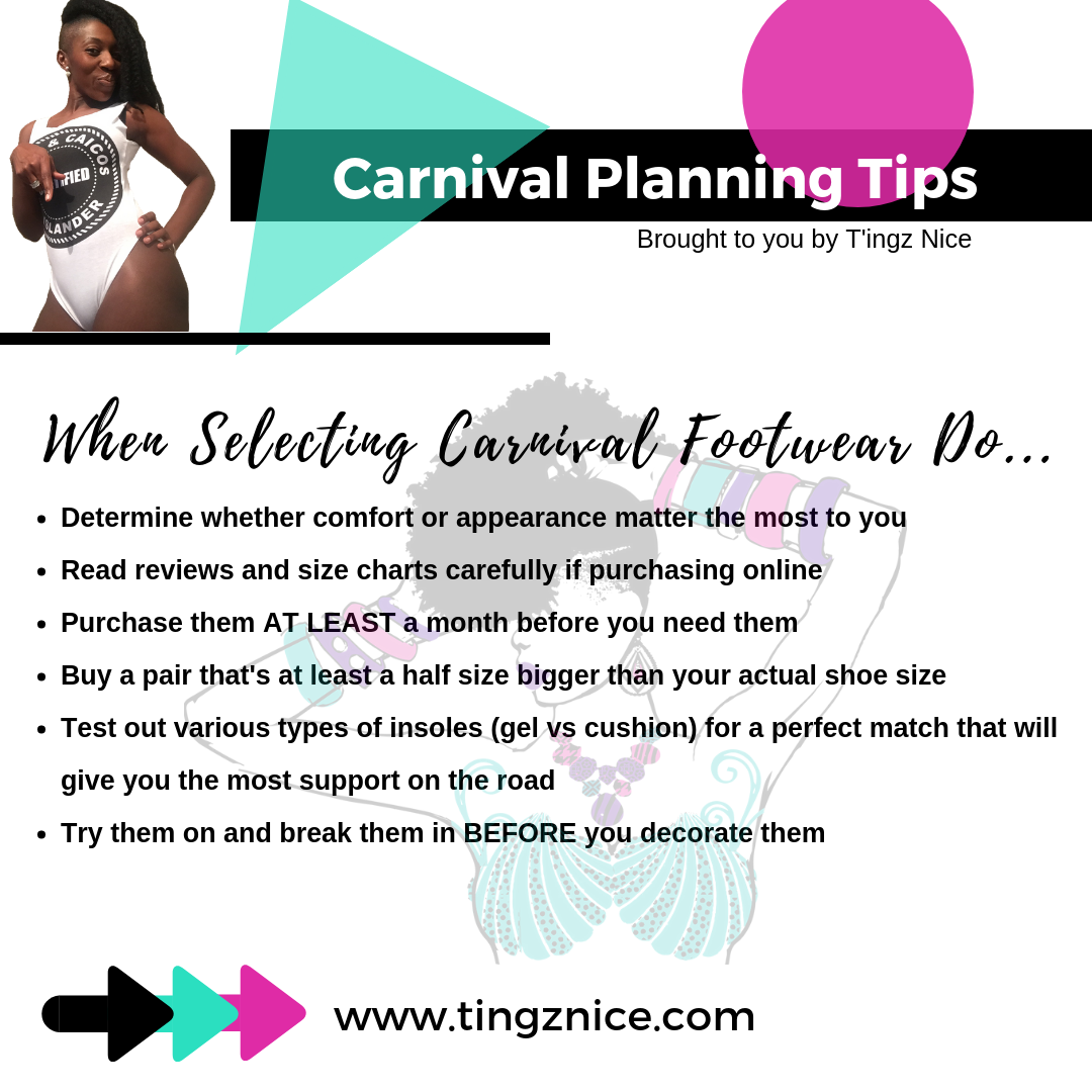 Tips for selecting carnival footwear