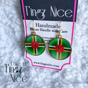 Dominica Bezel Flag Earrings