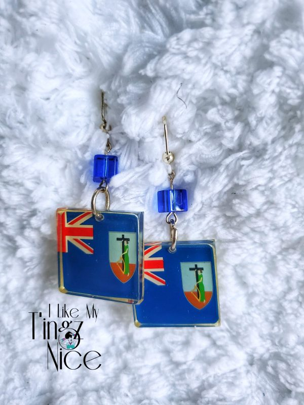 Montserrat Square Flag Earrings