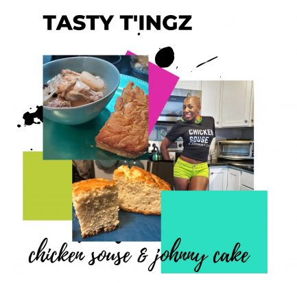 Chicken Souse and Johnny Cake